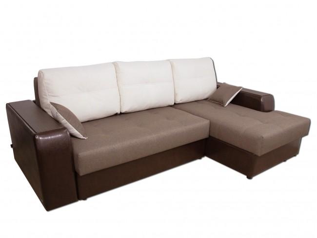 Угловой диван Эдинбург с оттоманкой правый